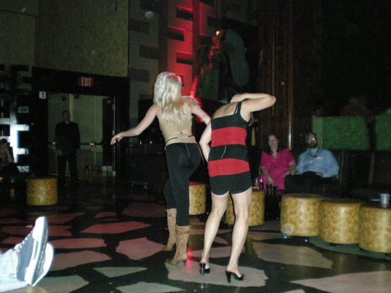 really drunk women dancing....horribly.
