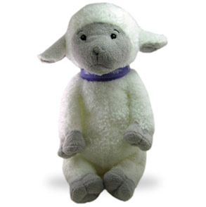 Aww cuteness! You can even buy a wee little lamb to snuggle with while you jam out to sleep!